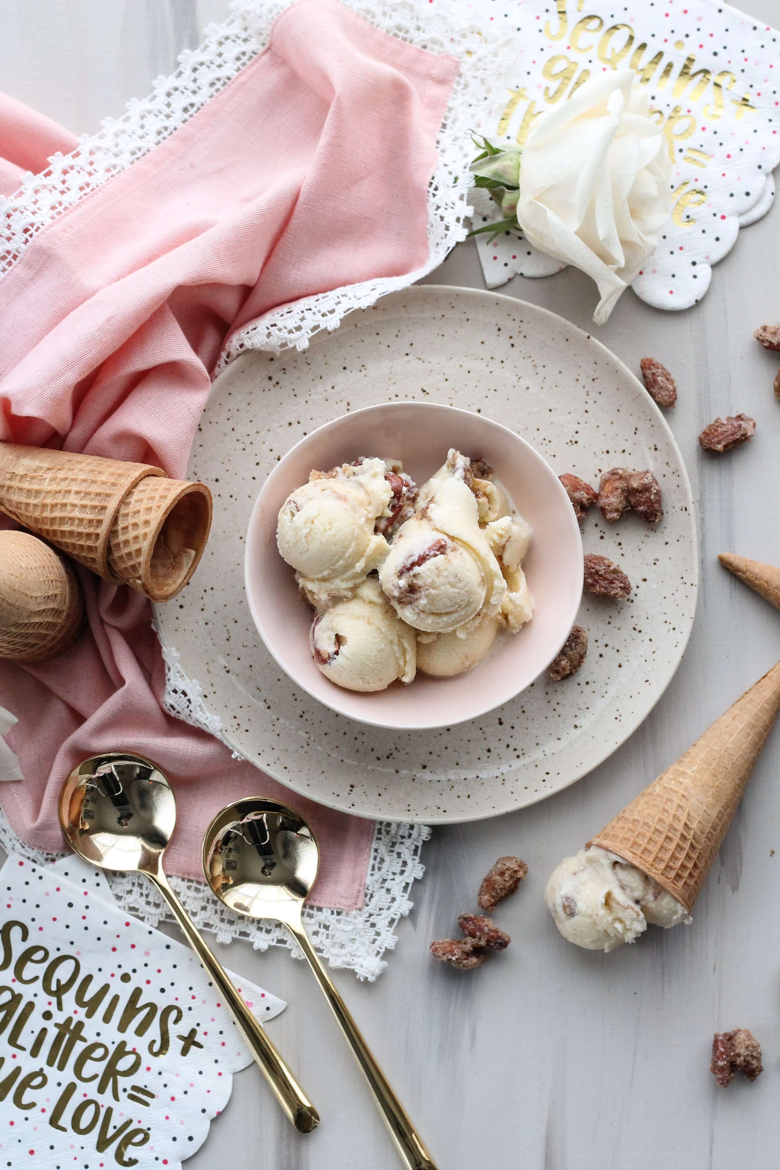 Quadruple Almond Crunch Ice Cream [ www.pedanticfoodie.com ]