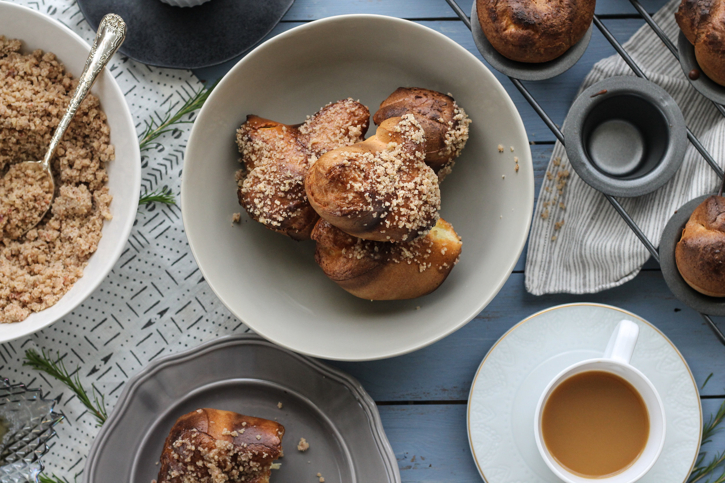 Bacon Pecan Praline Popovers are the very best way to start the weekend! [ www.pedanticfoodie.com ]