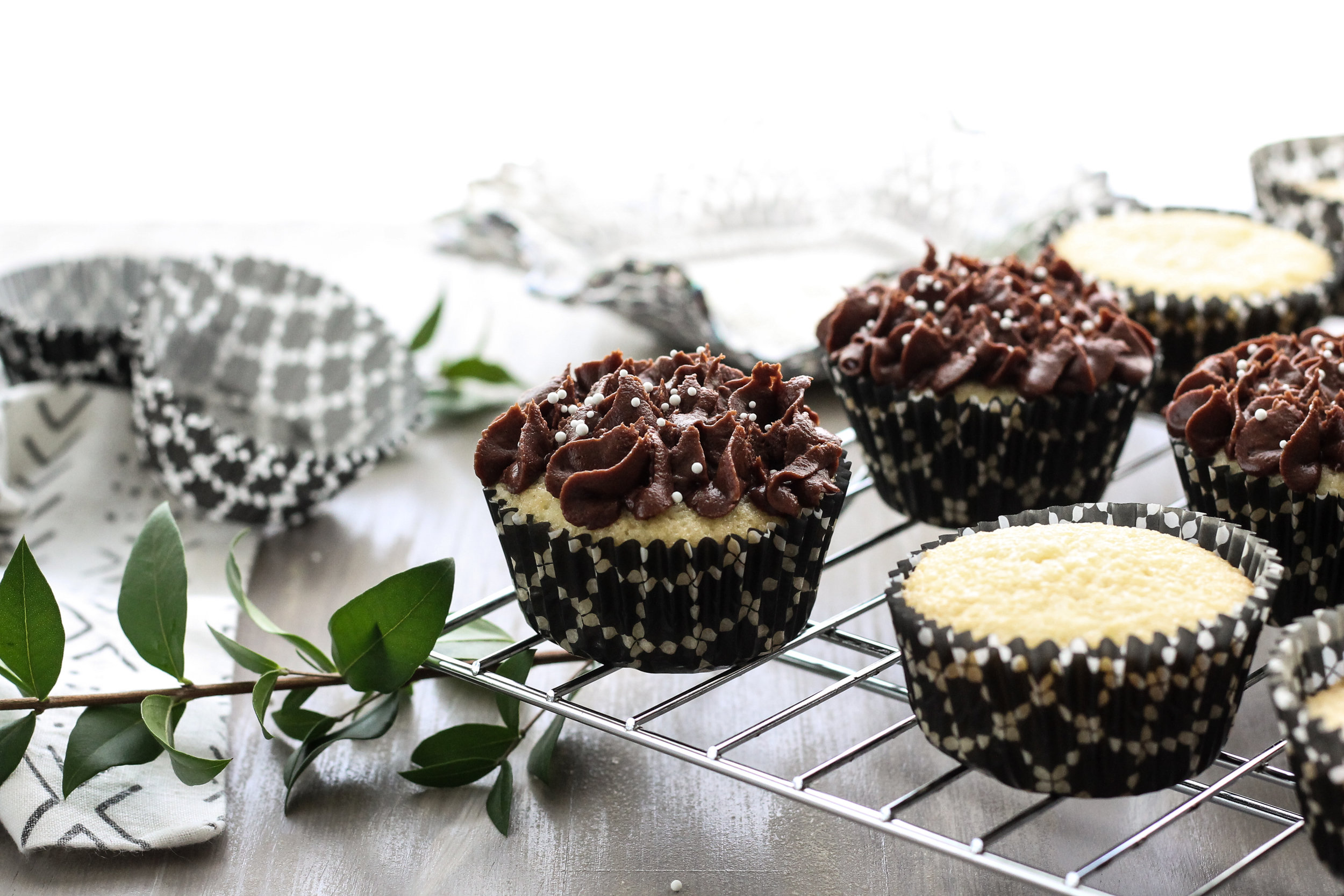 DAIRY-FREE COCONUT CUPCAKES WITH CHOCOLATE COCONUT BUTTERCREAM [ www.pedanticfoodie.com ]