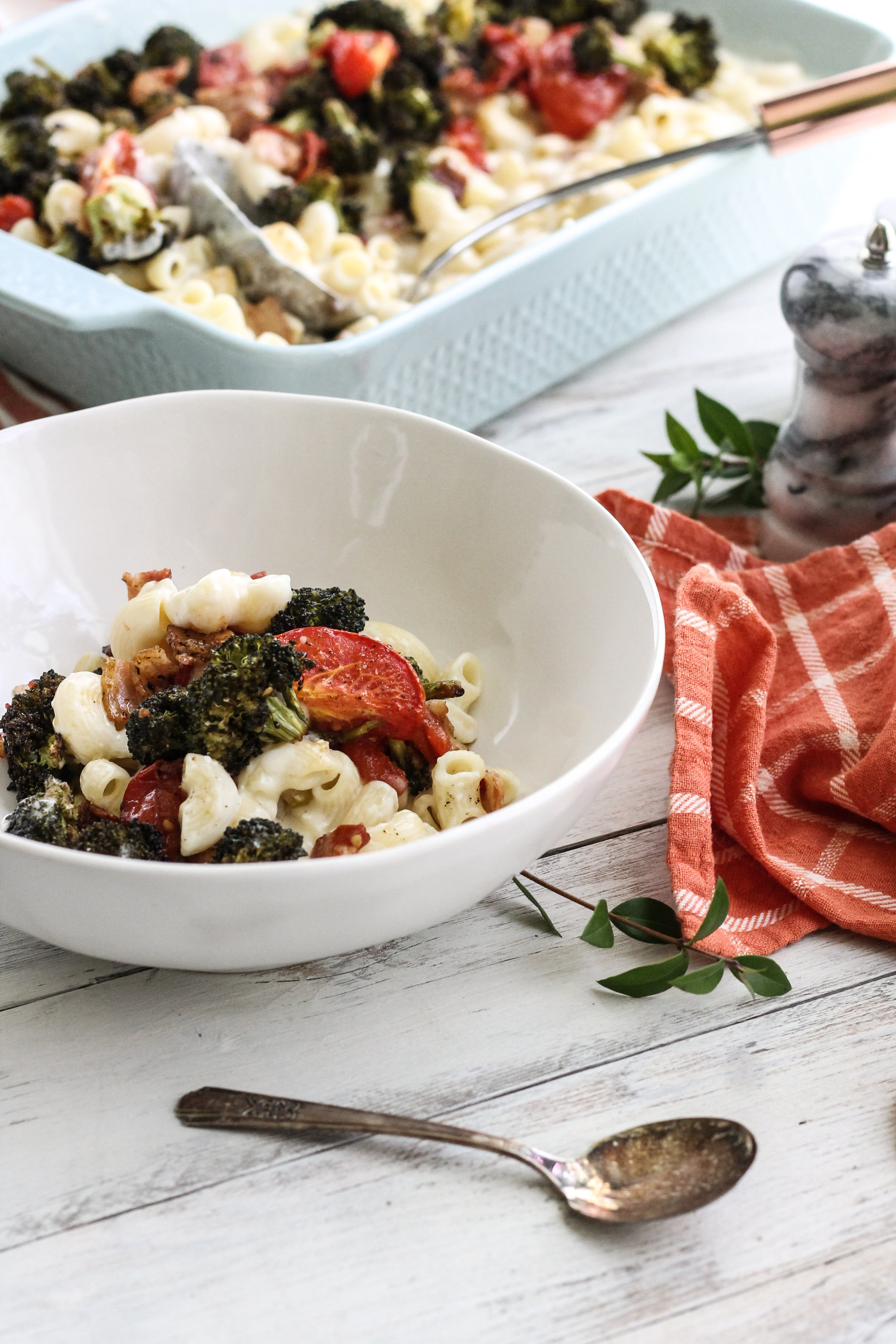 MACARONI & CHEESE WITH SPRING ROASTED VEGETABLES [ WWW.PEDANTICFOODIE.COM ]
