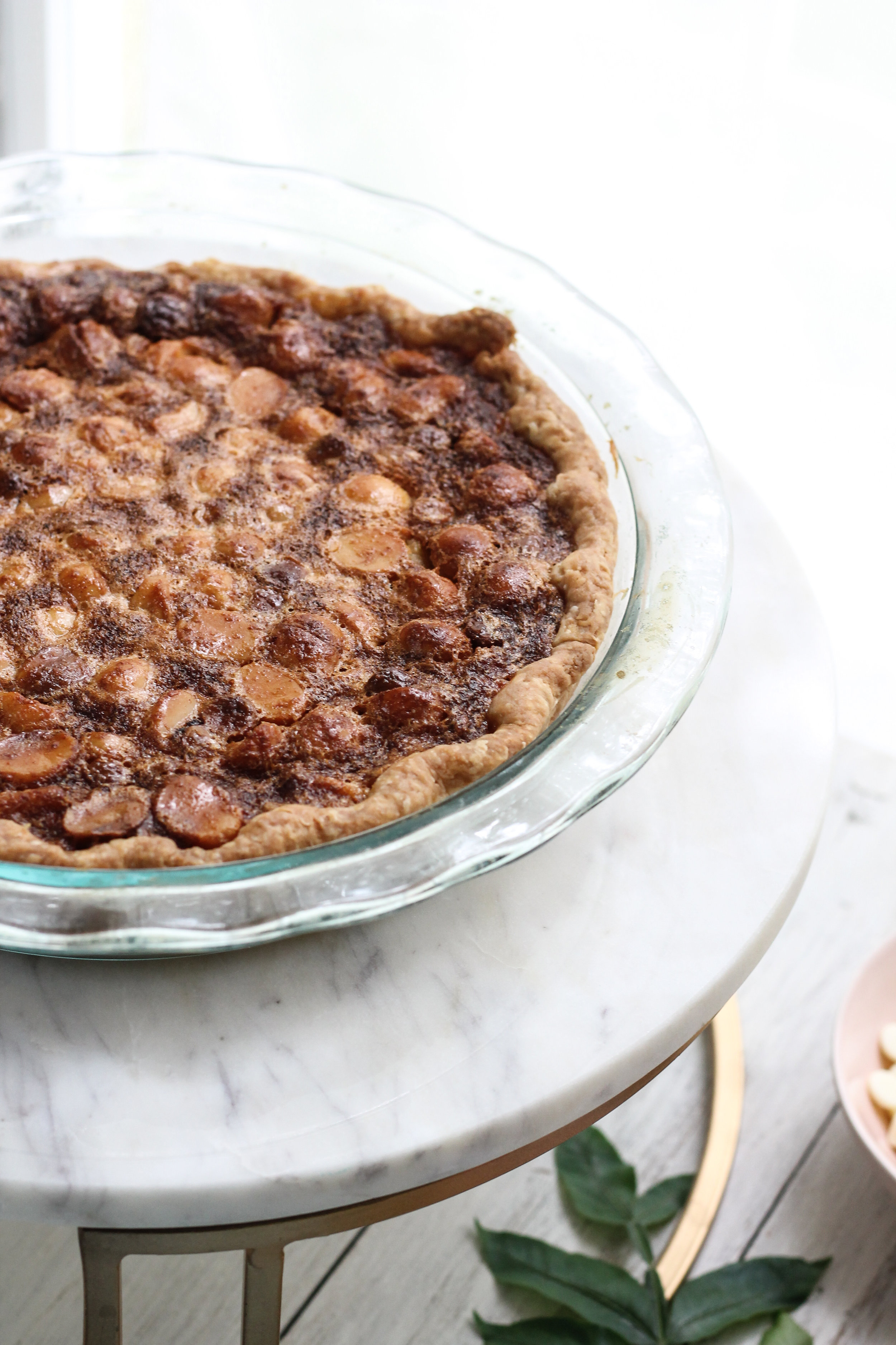 If you thought white chocolate macadamia nut cookies were good, then this pie will be a dream come true!  All the charms of my favorite cookie, enveloped in a rich, caramel-like custard! [ www.pedanticfoodie.com ]