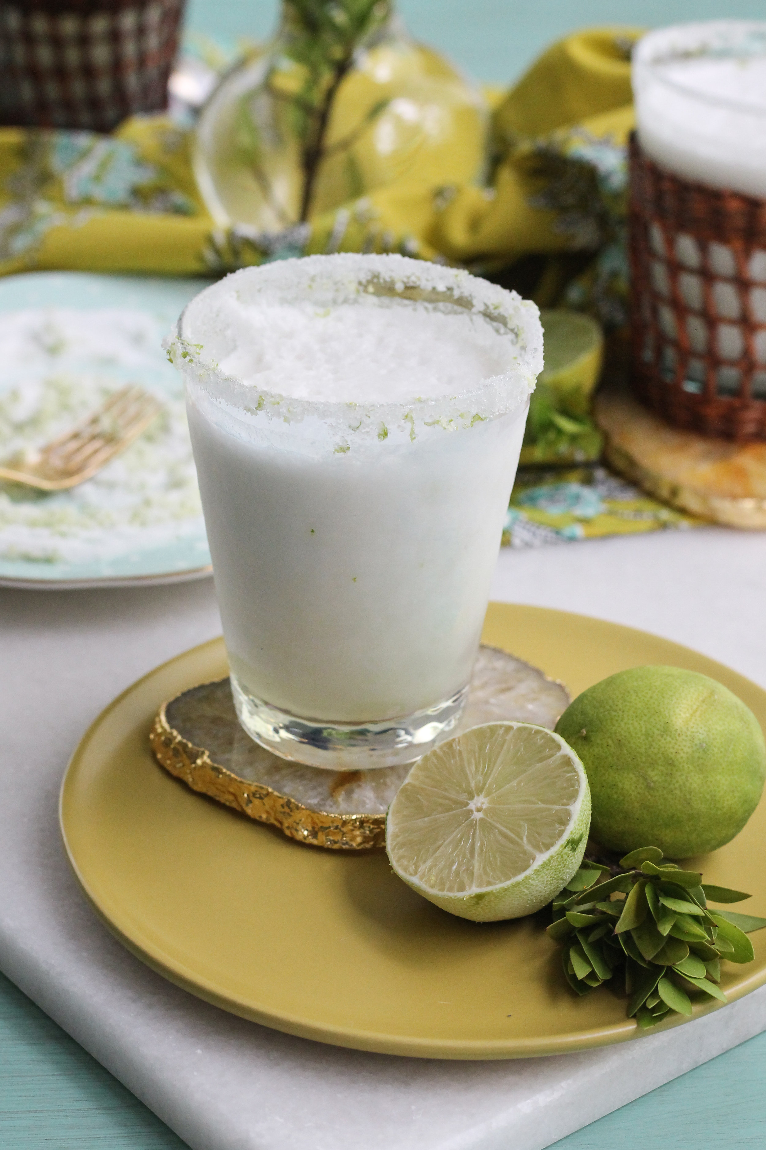 This creamy coconut limeade slush is the perfect mocktail to sip on a hot, summer day.  [ WWW.PEDANTICFOODIE.COM ]