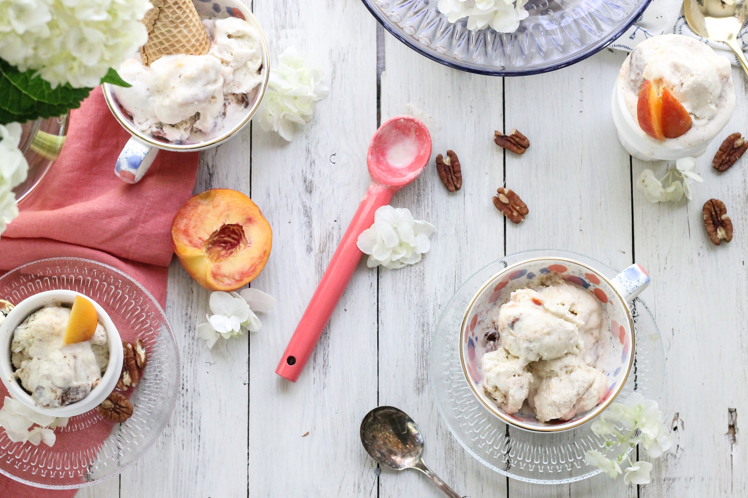 Brown Butter Peach & Spiced Pecan Ice Cream is the perfect way to celebrate the end of summer! [ www.pedanticfoodie.com ]