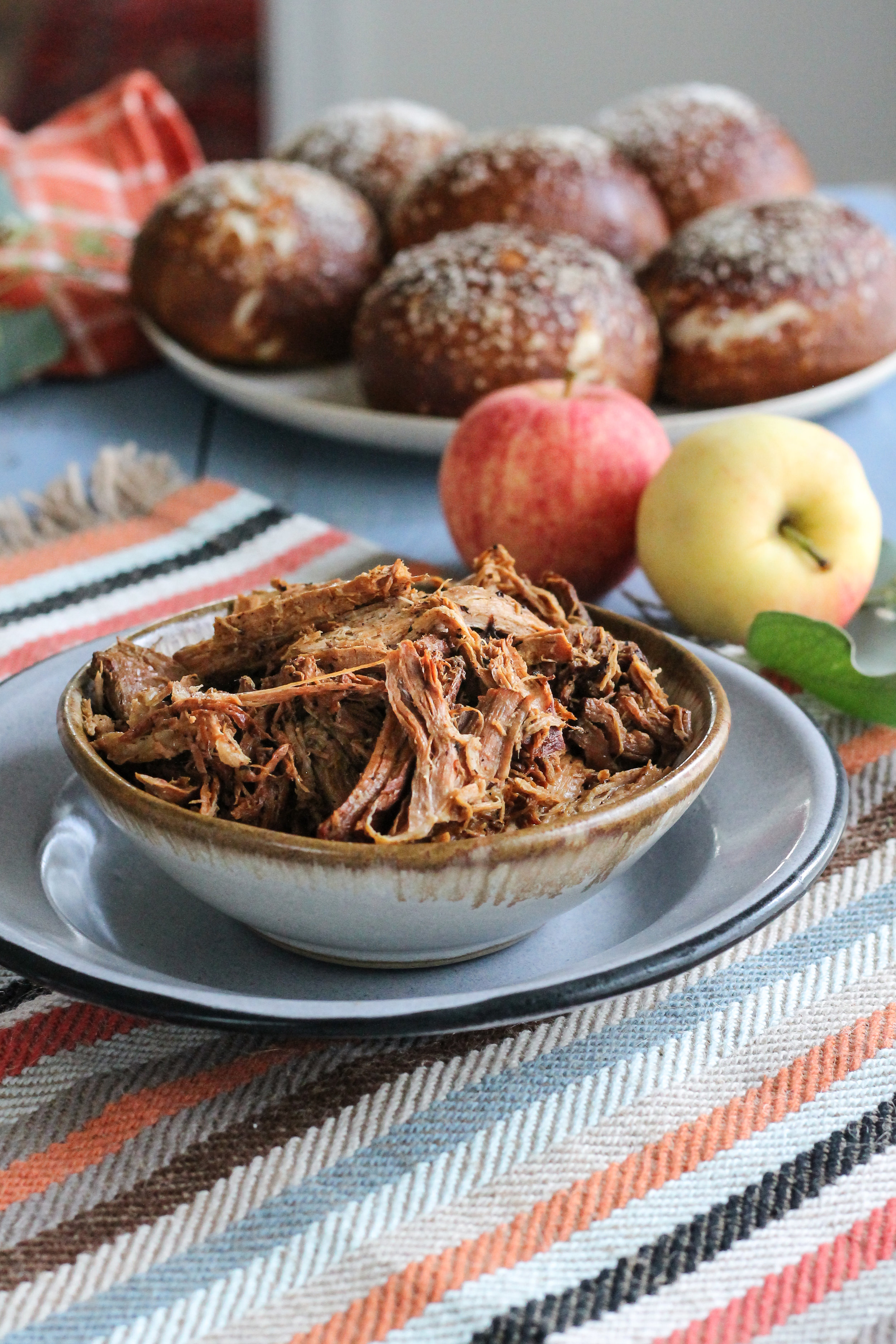 SLOW-COOKER ROOT BEER & BALSAMIC PULLED PORK WITH APPLE KALE SLAW SANDWICHES MAKE THE PERFECT TAILGATE TREAT! [ WWW.PEDANTICFOODIE.COM ]