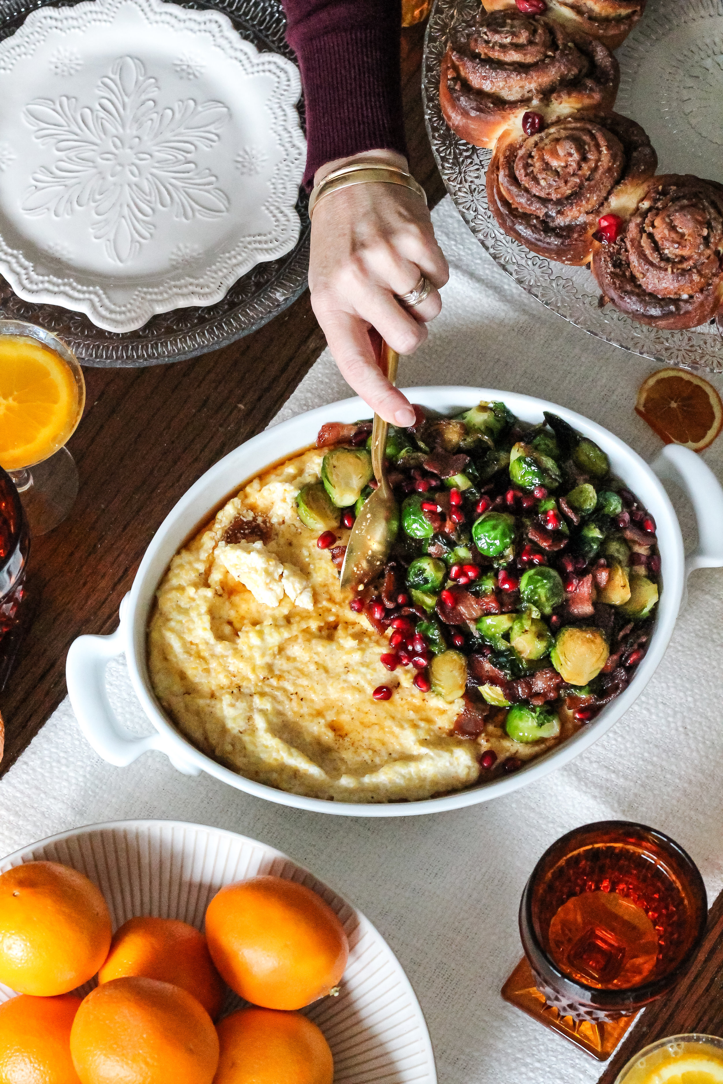 The perfect no-stress Christmas Morning Brunch!  Find all the details and recipes on www.pedanticfoodie.com!