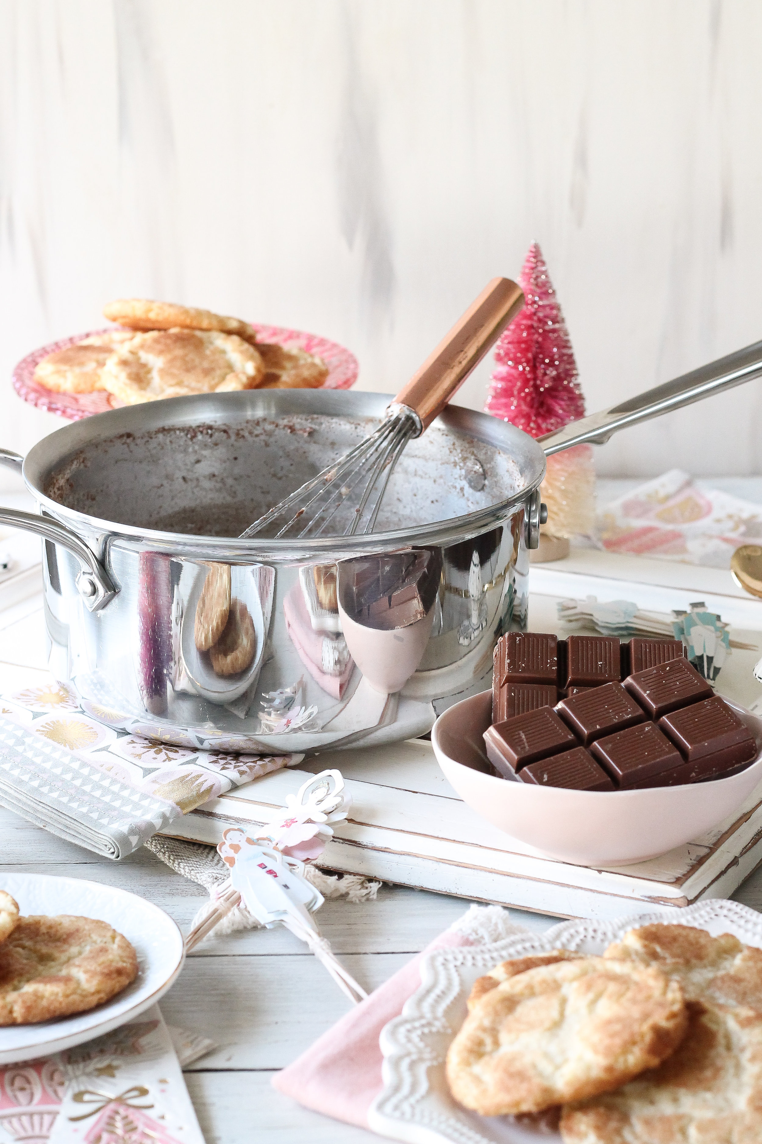 Make this holiday season extra magical with THE VERY BEST SNICKERDOODLE HOT COCOA.  Find the recipe on www.pedanticfoodie.com!!