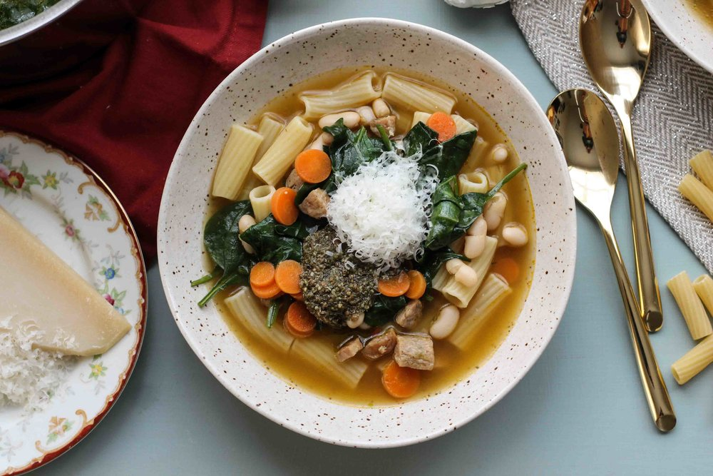 10-0669.jpgThis+quick+and+easy+Italian+Sausage+&+Pesto+soup+is+the+perfect+weeknight+winter+meal.+[+www.pedanticfoodie.jpg