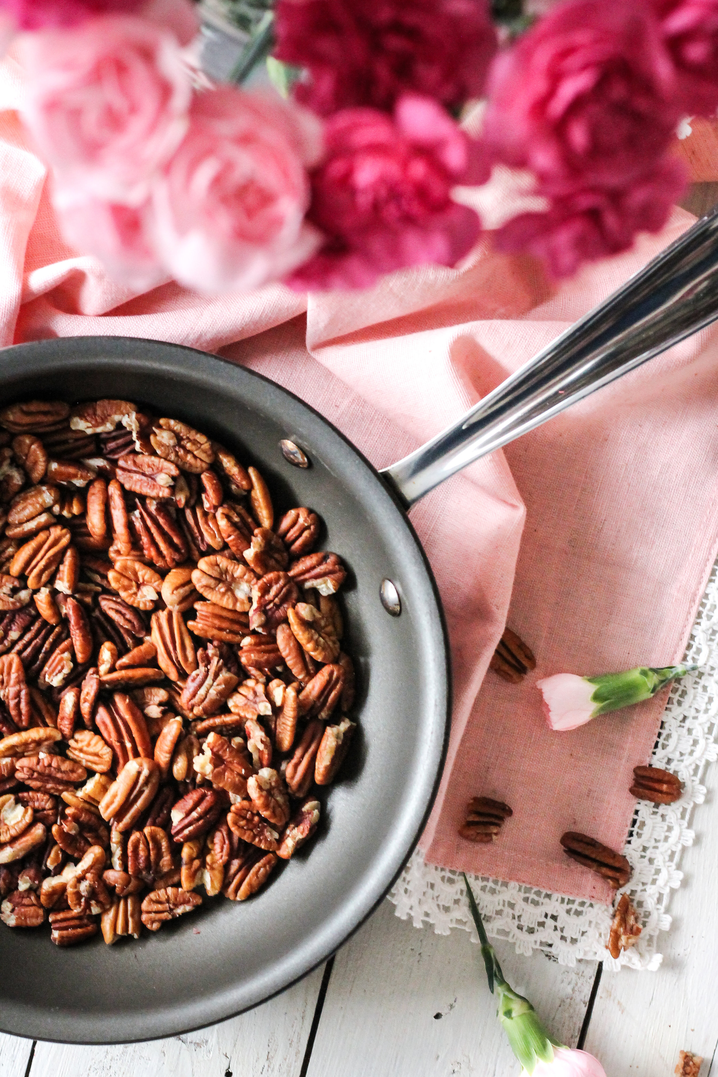 A cup of steaming, spicy pecan milk is the perfect way to beat the winter chill.  Find the super simple recipe on www.pedanticfoodie.com!