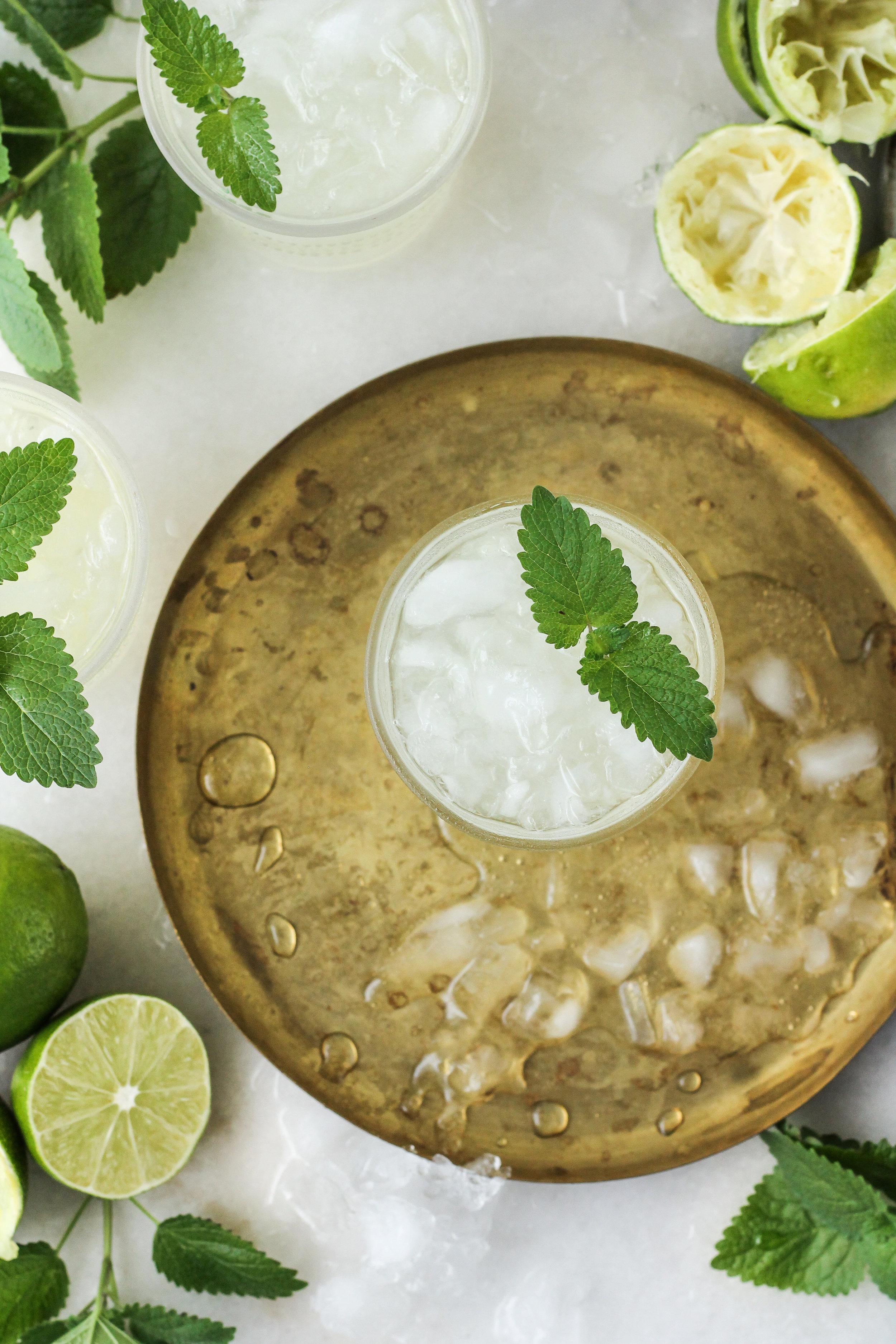 Lemon Balm Limeade is the simplest and most delicious way to refresh this summer! [ WWW.PEDANTICFOODIE.COM ]