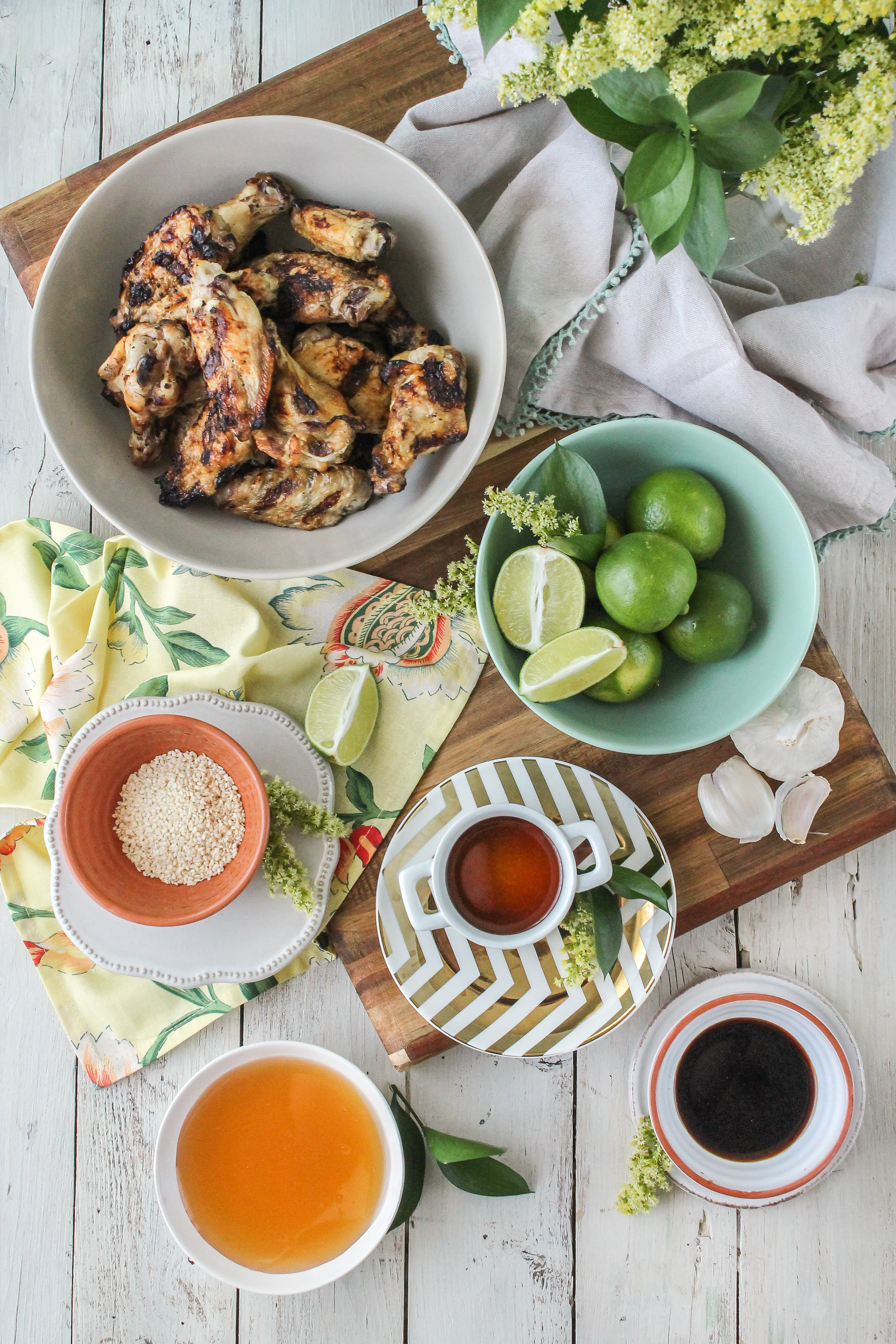 These honey sesame grilled wings are the perfect quick & simple summer meal!  Find the recipe on www.pedanticfoodie.com!