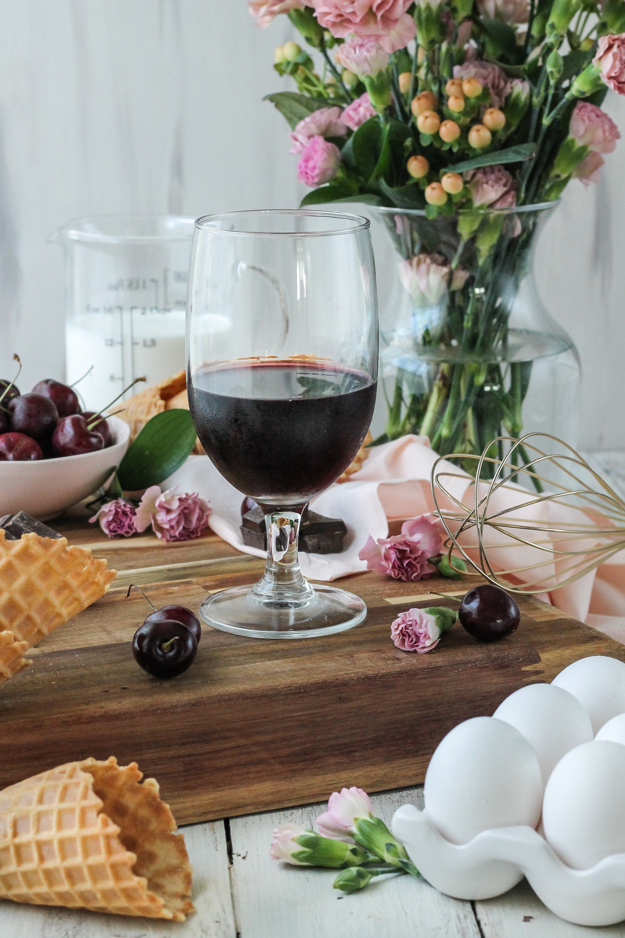 There was never a more delicious way to beat the heat.  Introducing Fudge-Swirled Red Wine & Black Cherry Ice Cream.  Find the recipe on www.pedanticfoodie.com!