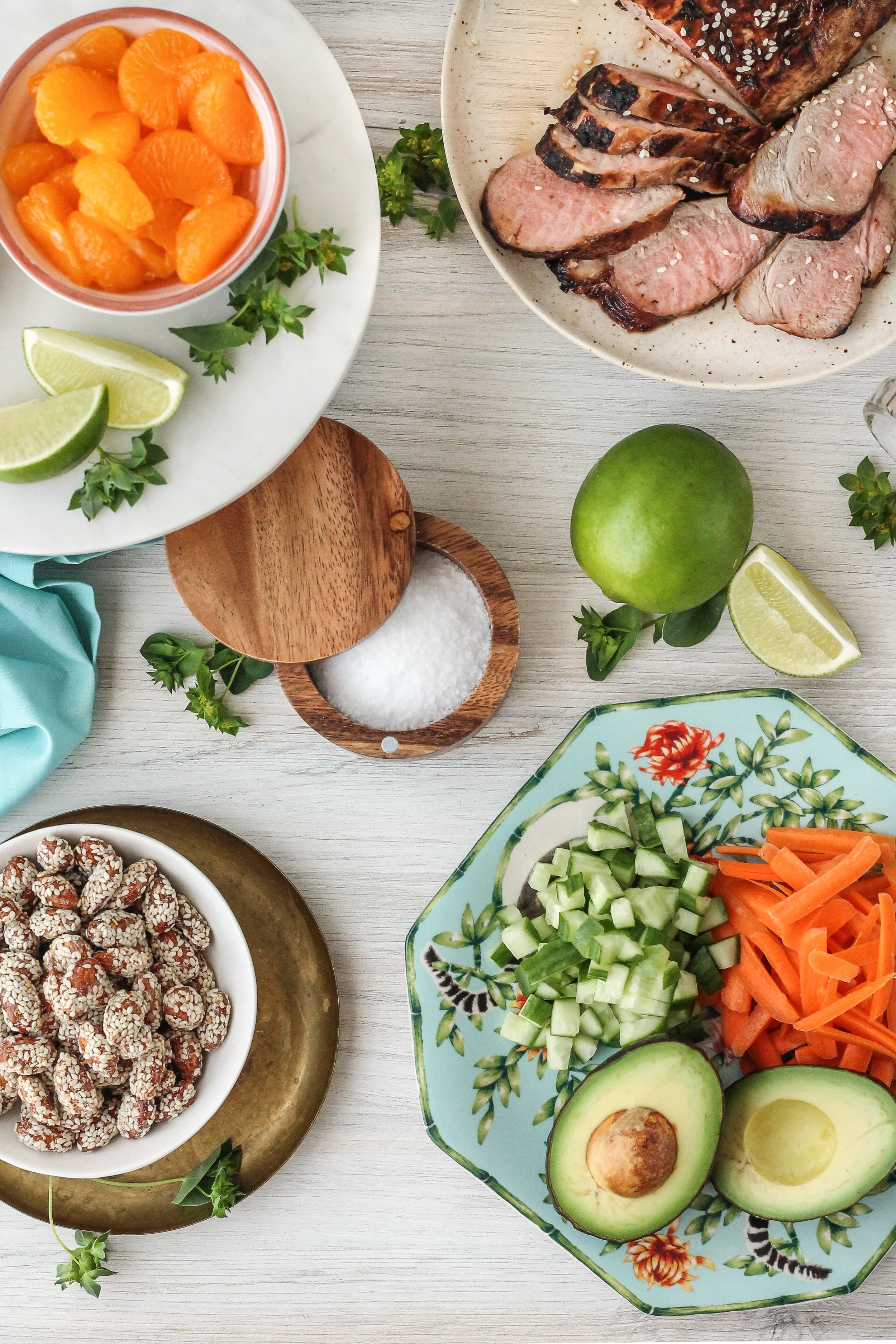 These sesame-soy pork loin salads are the fresh and easy weeknight dinner we all crave!  Find this recipe and so many more on www.pedanticfoodie.com!
