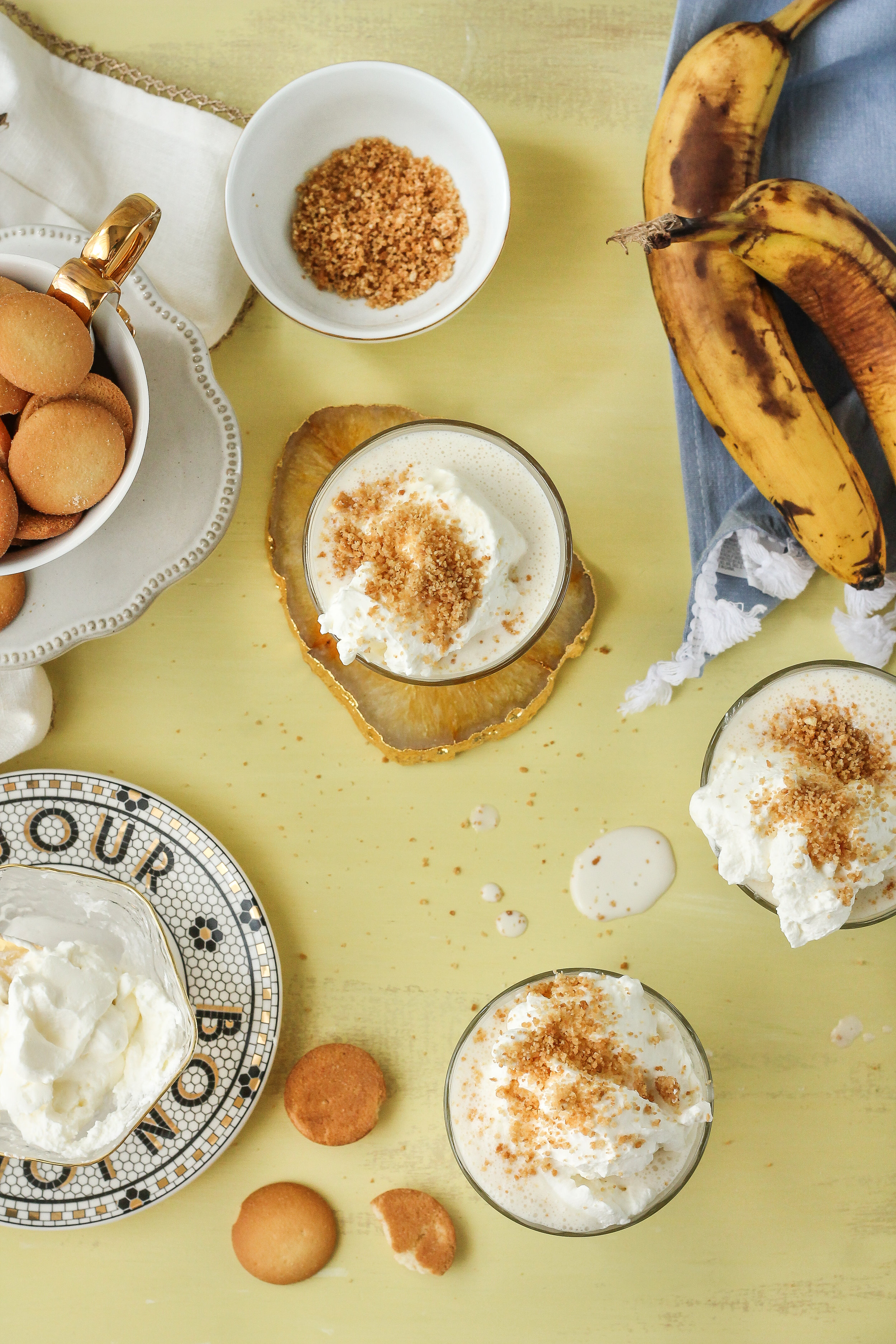 Craving banana pudding but do not have time for all that whipping, slicing, and layering?  These banana pudding shakes are the perfect quick and simple way to satisfy your cravings!  Find this recipe and so many more on WWW.PEDANTICFOODIE.COM!