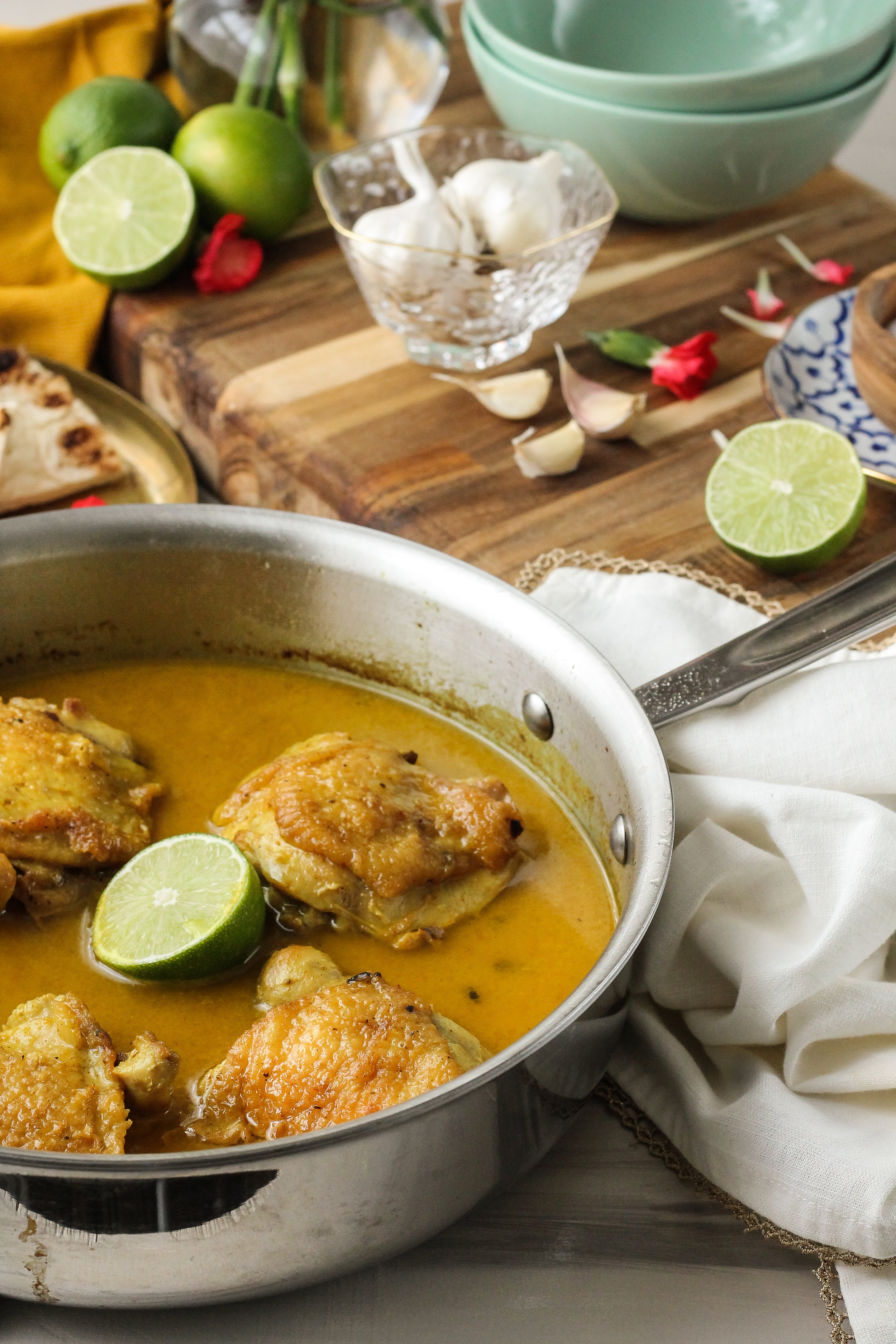 This Weeknight Buttery Coconut Curry Chicken is fast, simple, and the complete comfort meal!  Find this recipe and many more on WWW.PEDANTICFOODIE.COM!