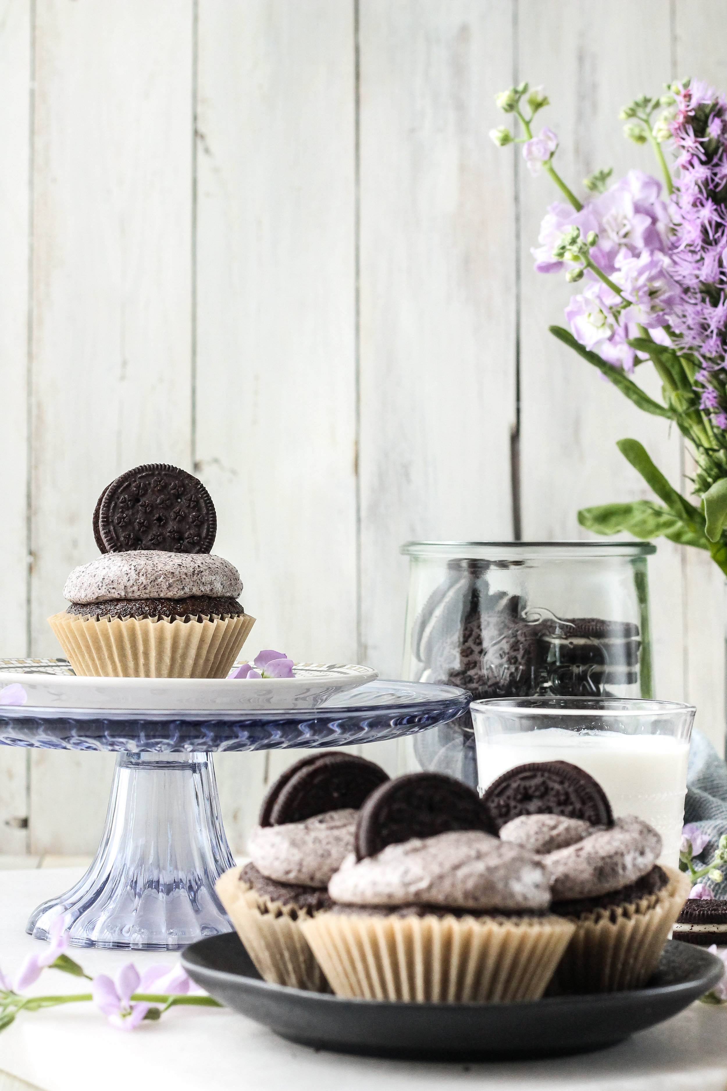These cookies and cream cupcakes feature a Swiss meringue buttercream that features both butter and cream cheese - producing the dreamiest rich and tangy frosting that is the best of both worlds.  You will not be able to wait until your birthday to make these cupcakes! Find this recipe on www.pedanticfoodie.com!