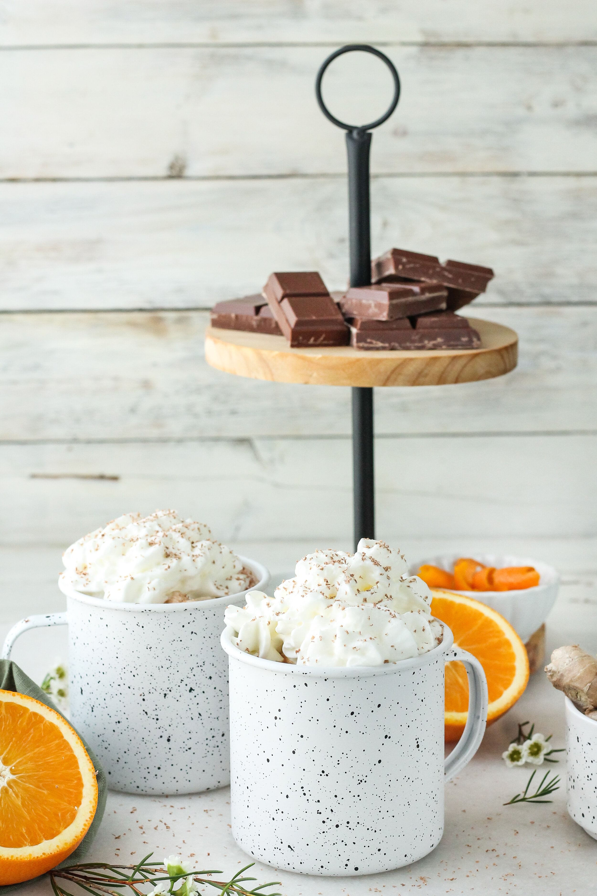 This spicy and luxuriously-smooth Orange, Ginger & Cardamom Hot Chocolate might just become your new favorite fall sipper!  Find the recipe on www.pedanticfoodie.com!