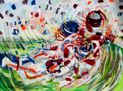 Running Back With Red Jersey by Ardith Goodwin