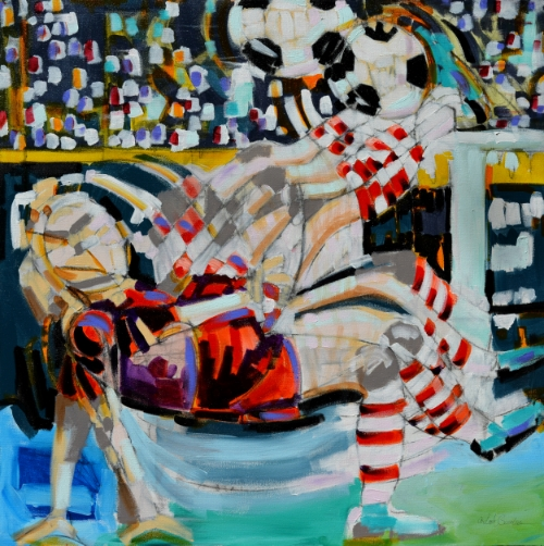 Striker With Red Stripes by Ardith Goodwin