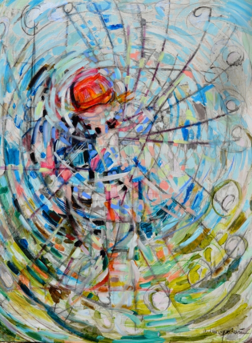 Golfer With Red Cap by Ardith Goodwin