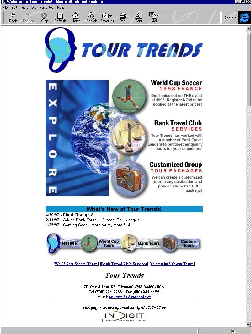 Tour Trends - circa 1999