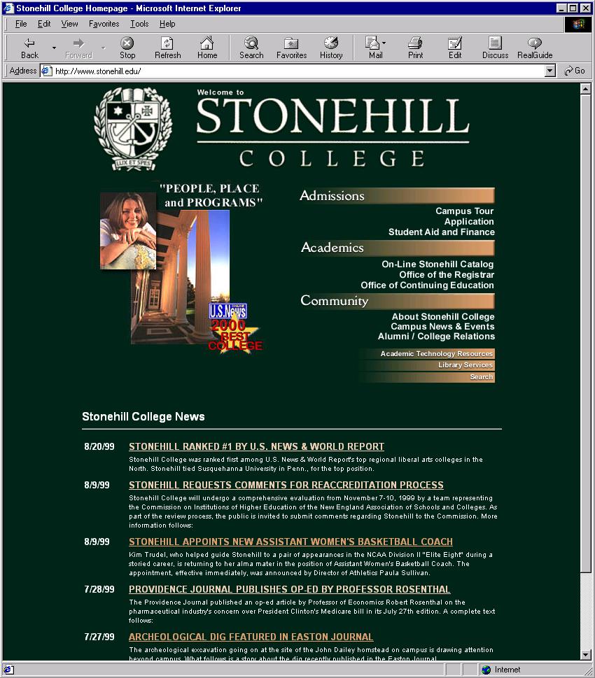 Stonehill College - circa 1998