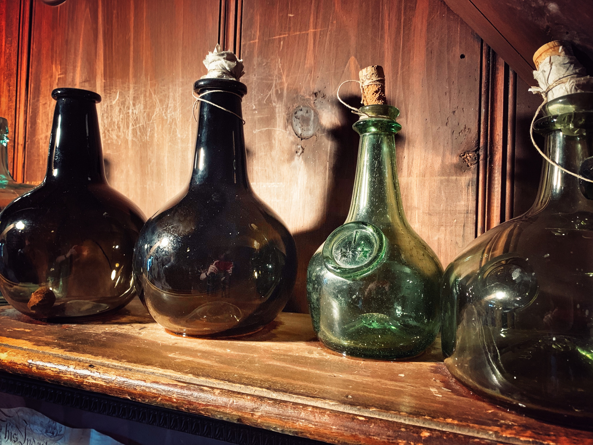 Bottles on the Shelf