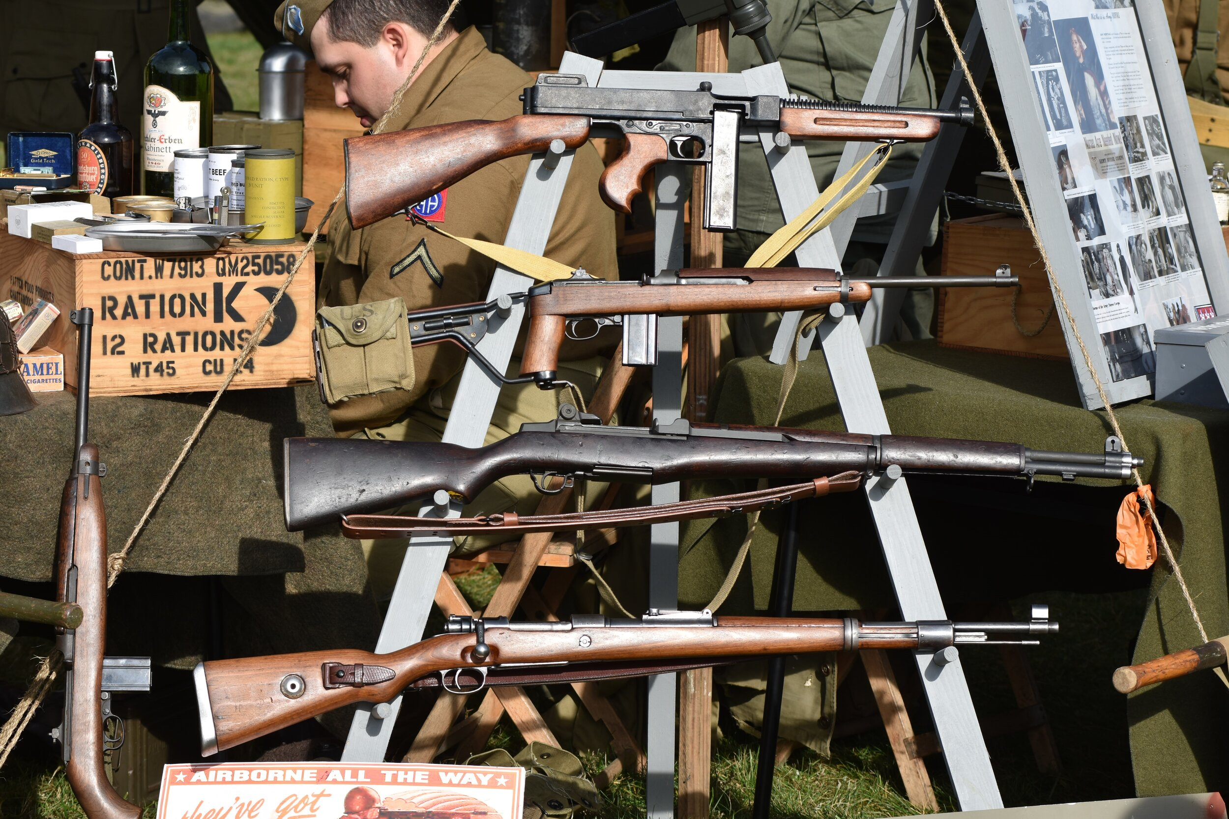 Close-up of the rifles taken on the Nikon D7200.