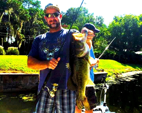 A big bass from a recent trip with Josh Hamlin