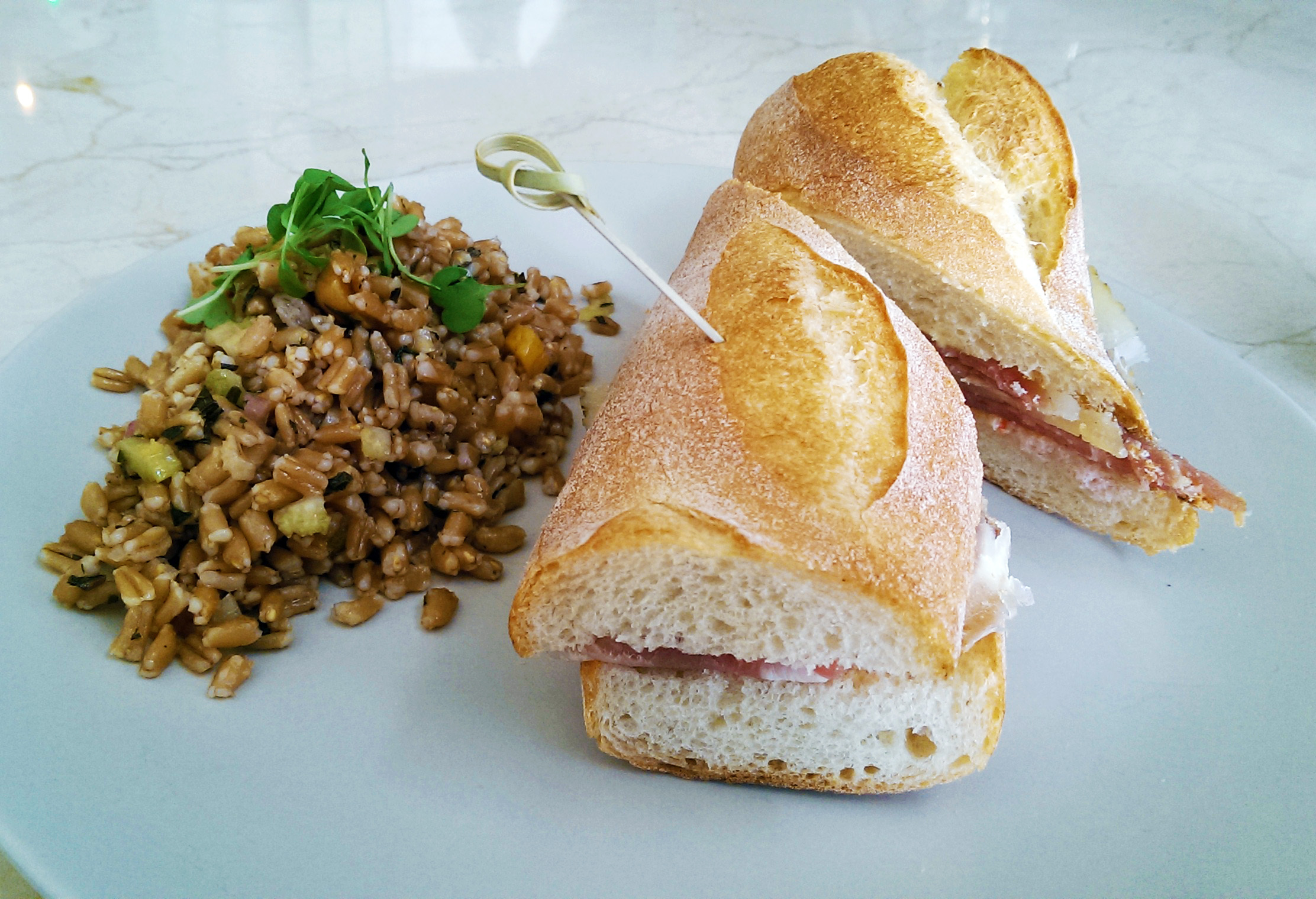 The Bocadilla with the daily grain at The Strand