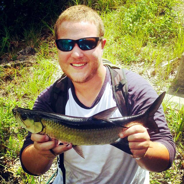 Trey Dyer with a Central Florida juvenile tarpon