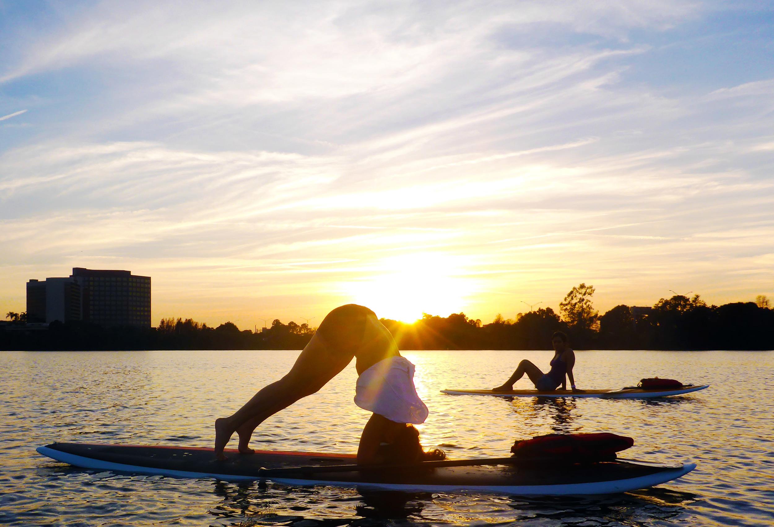 Lisa S. gettin her  SUP Yoga  on!