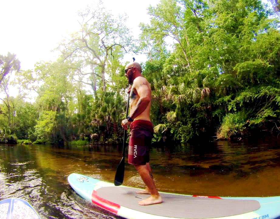 Paddleboarding the Wekiva River near Orlando