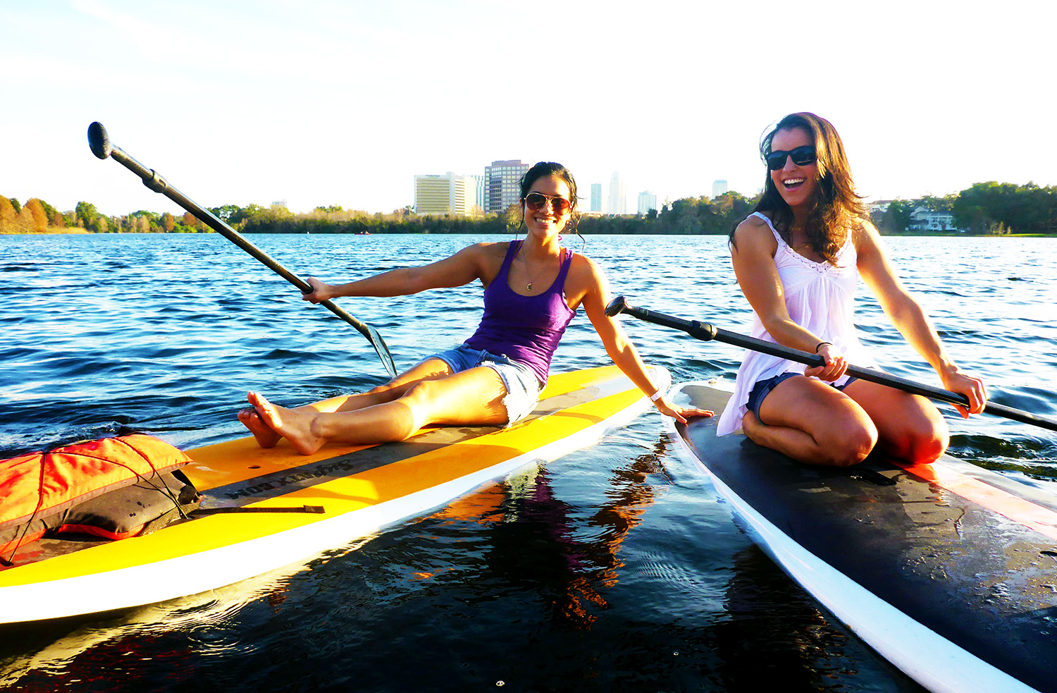 Paddleboarding on Lake Ivanhoe in Downtown Orlando