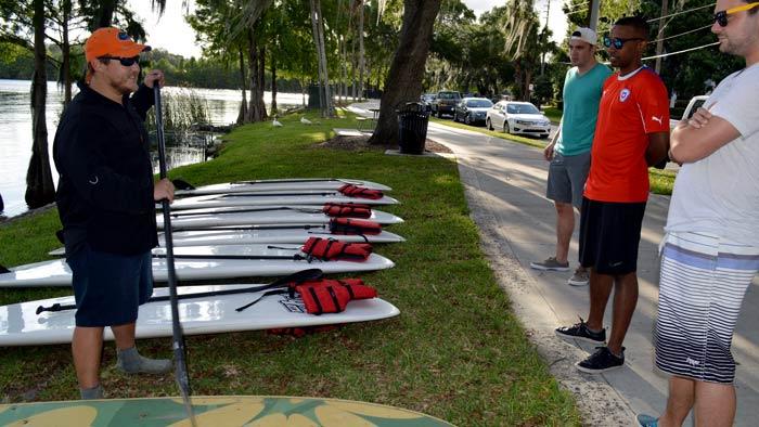 Trey Giving Paddleboard Instruction