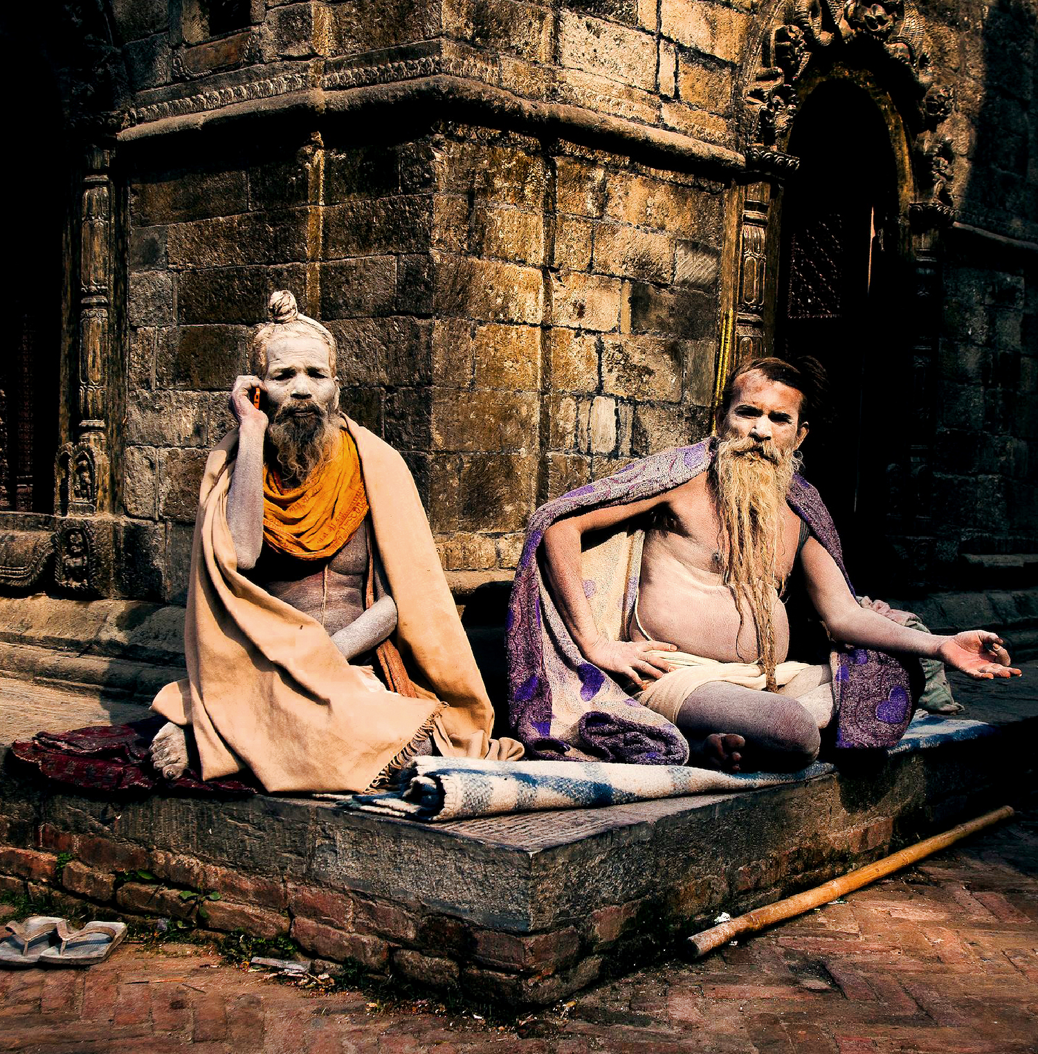 Two sadhu's on the western side of Pashupatinath.