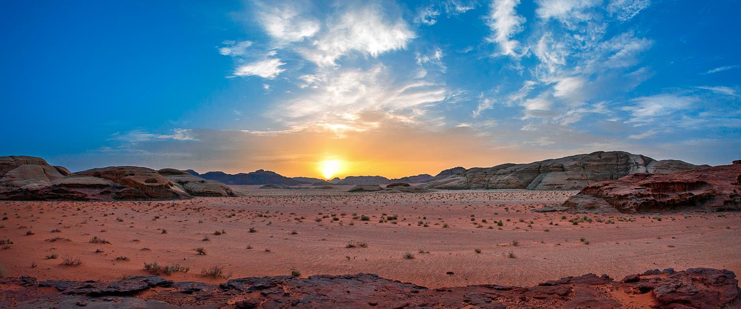 Wadi Rum, Jordan. Sunset.
