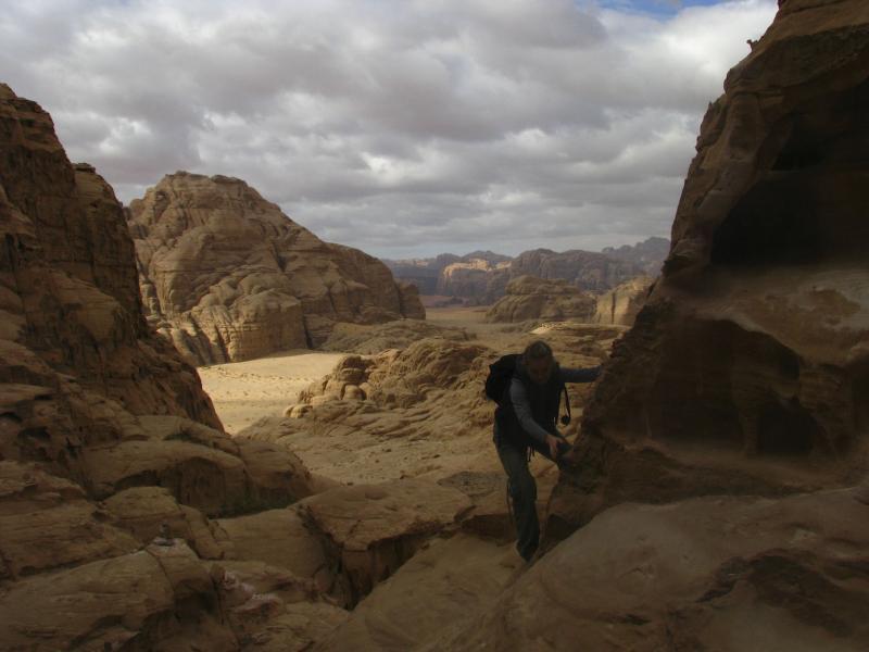 Burdah Arch Scrambling, Wadi Rum