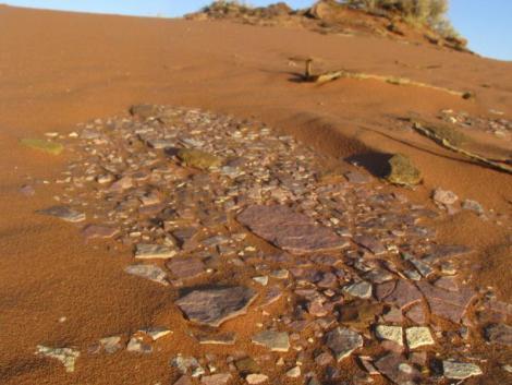 Wadi Rum - Slate on Sand
