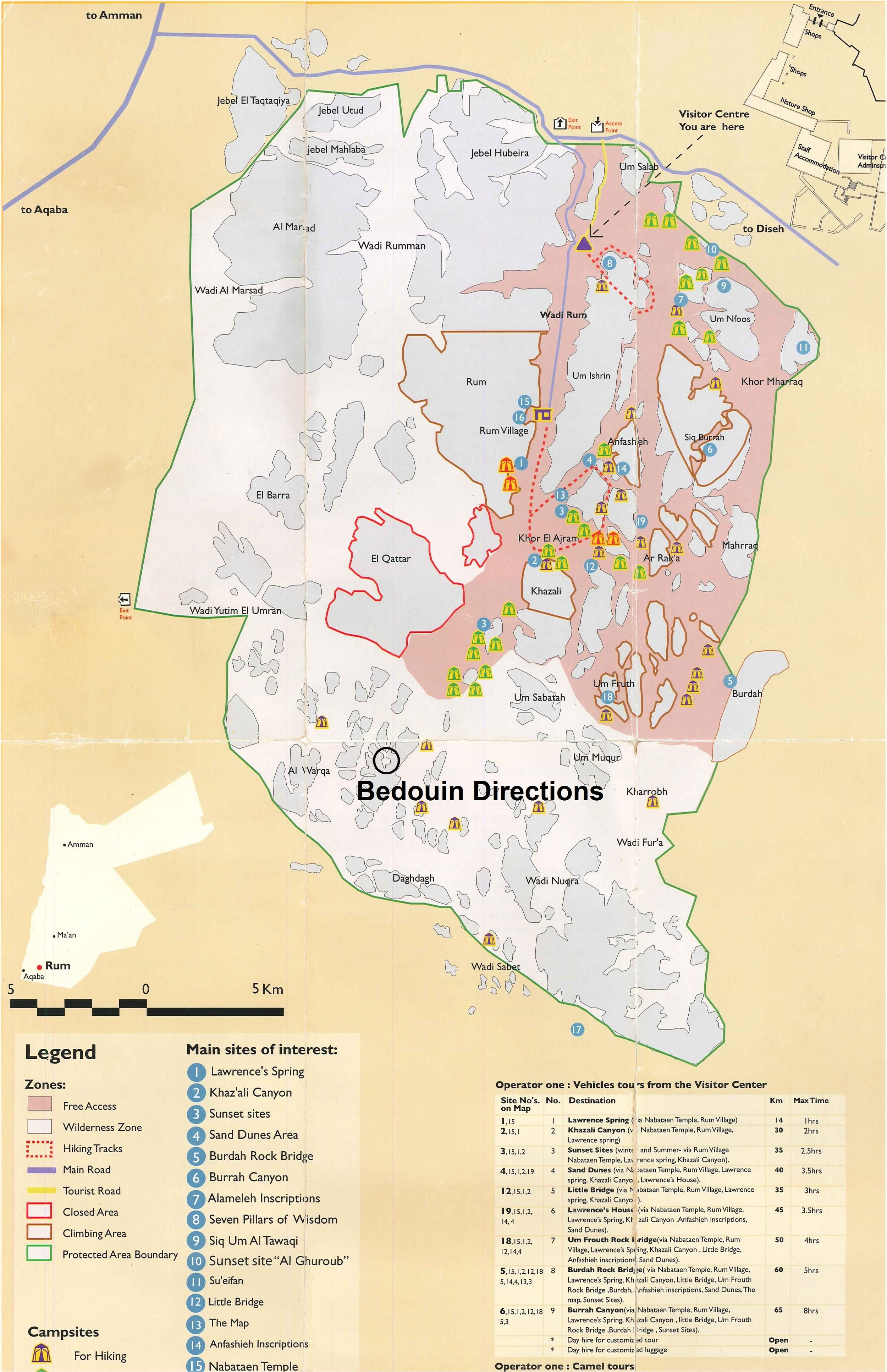 Map: Bedouin Directions Location. CLICK TO ENLARGE