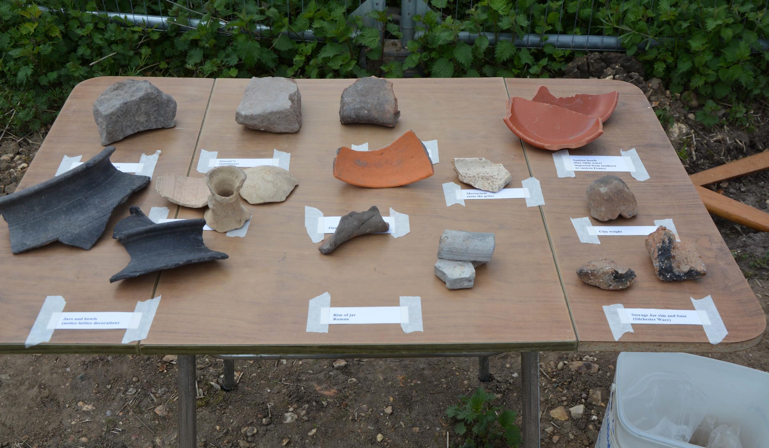 Some Iron Age & Roman pottery