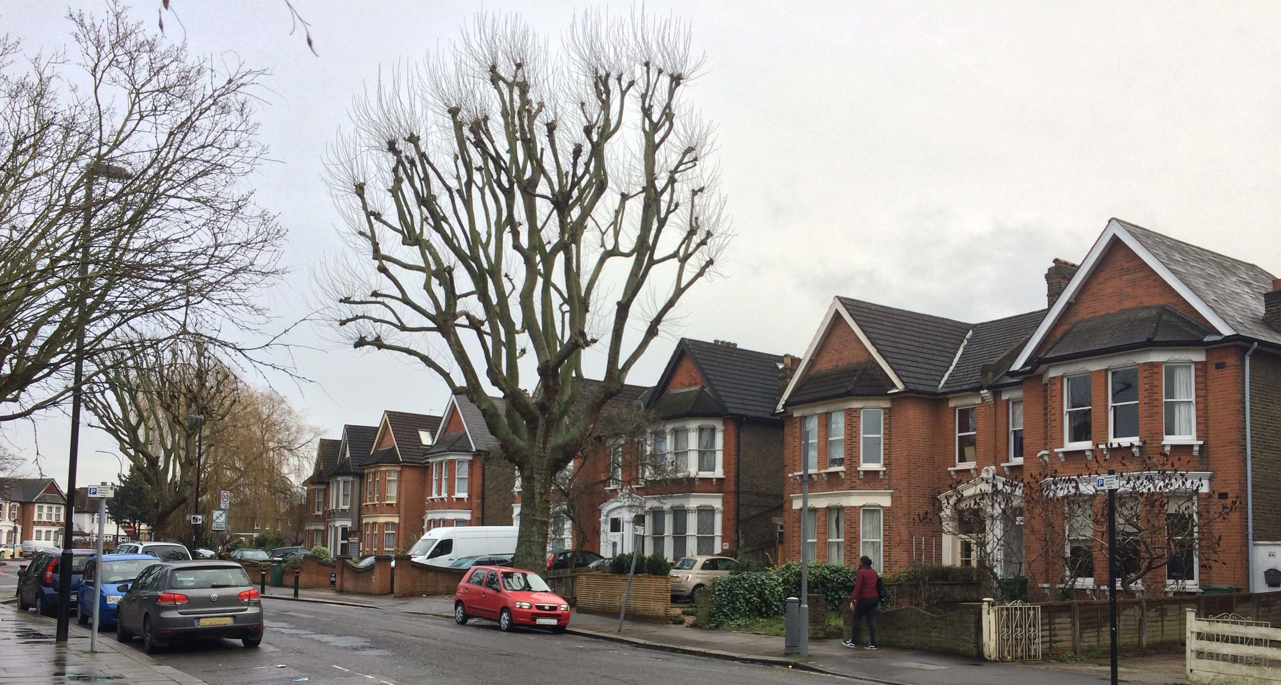 Edwardian bay-fronted properties, Culverley Green Conservation Area, Catford, LB Lewisham