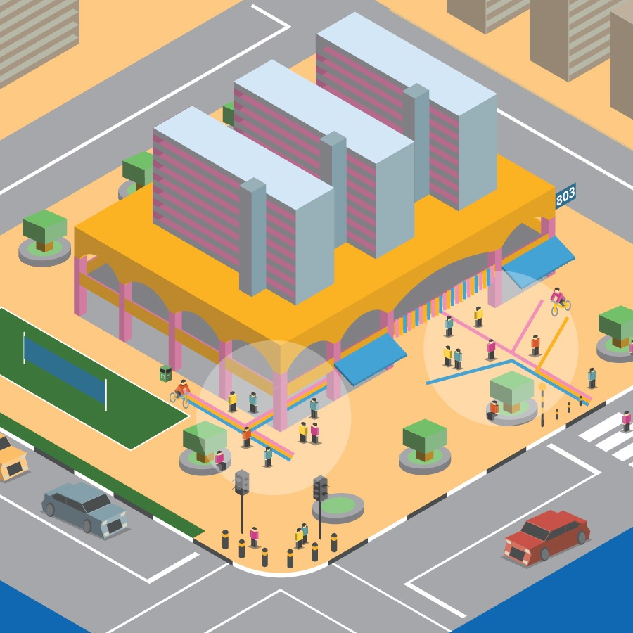 Junctions at 803 -  Prototyping community nodes in public housing as places for gathering, activity, and health.