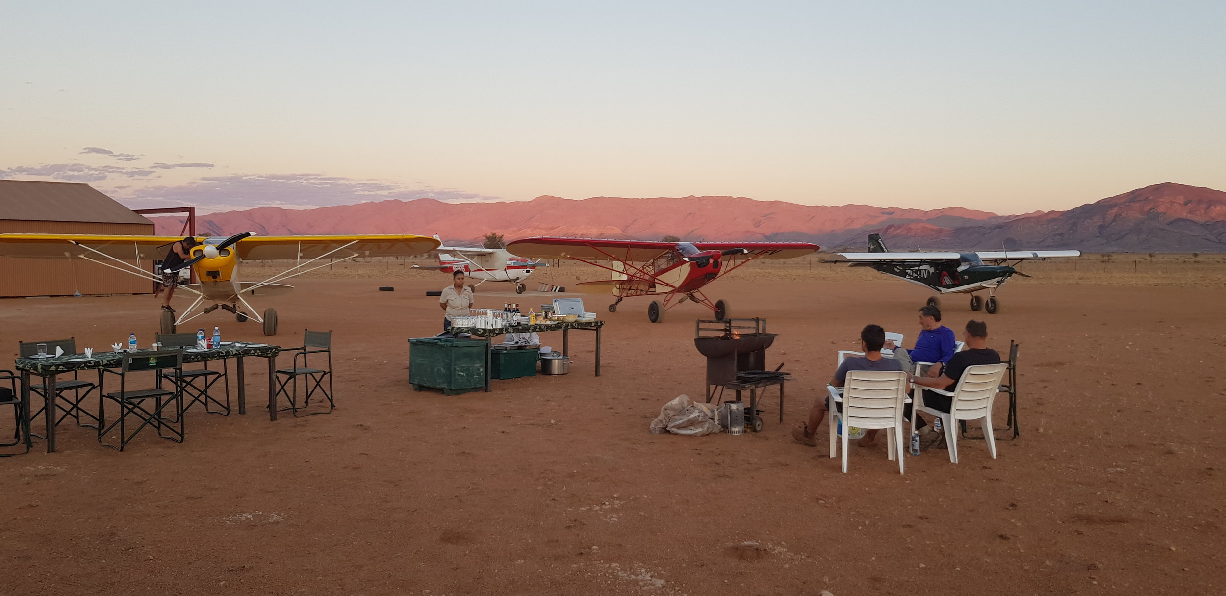 CAMPING IN THE NAMIB DESERT
