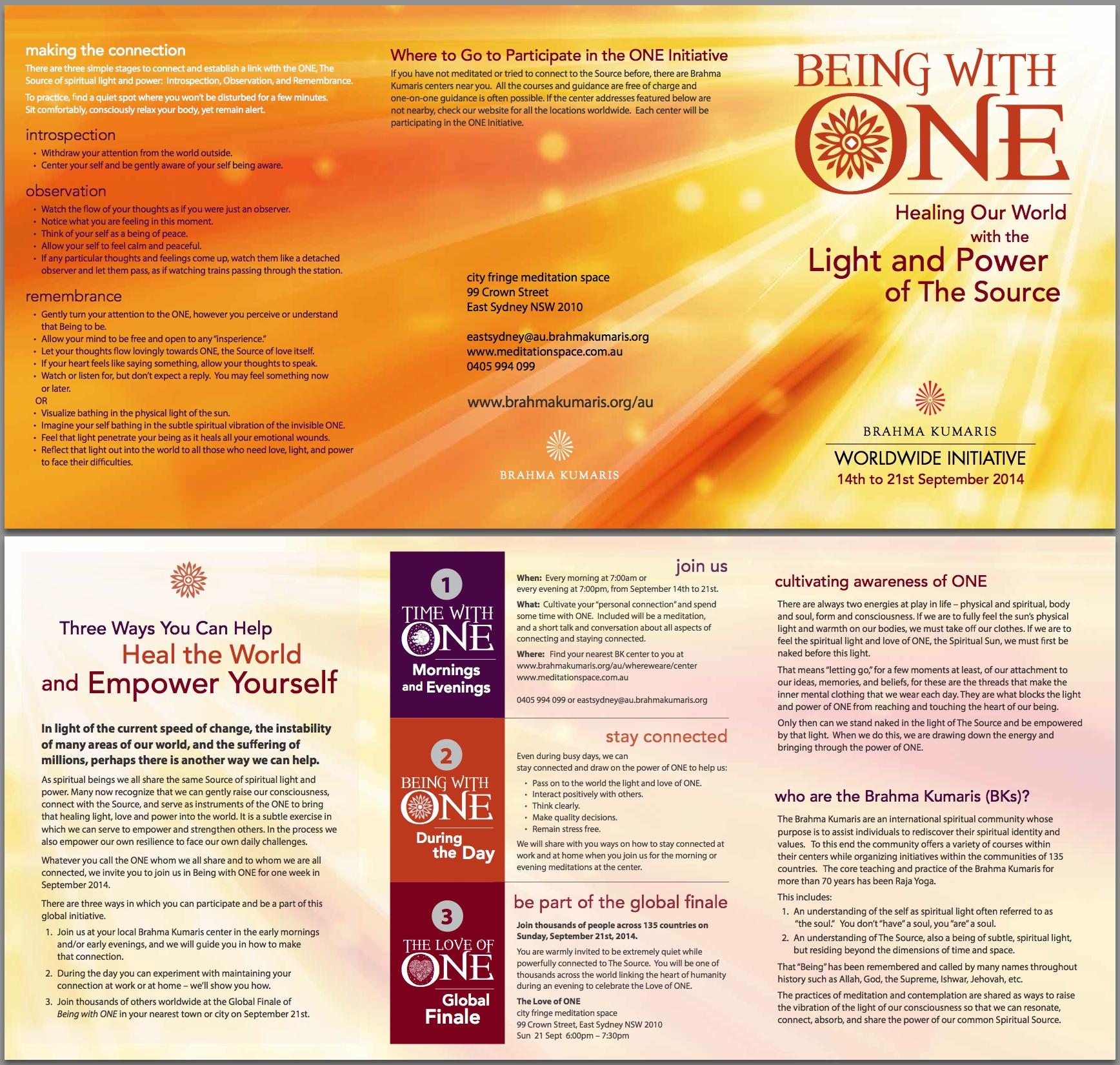 International ONE INITIATIVE flyer