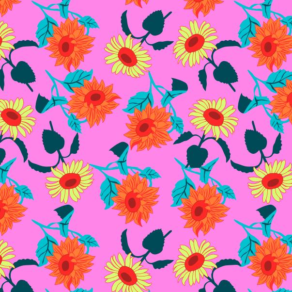 Neon Floral