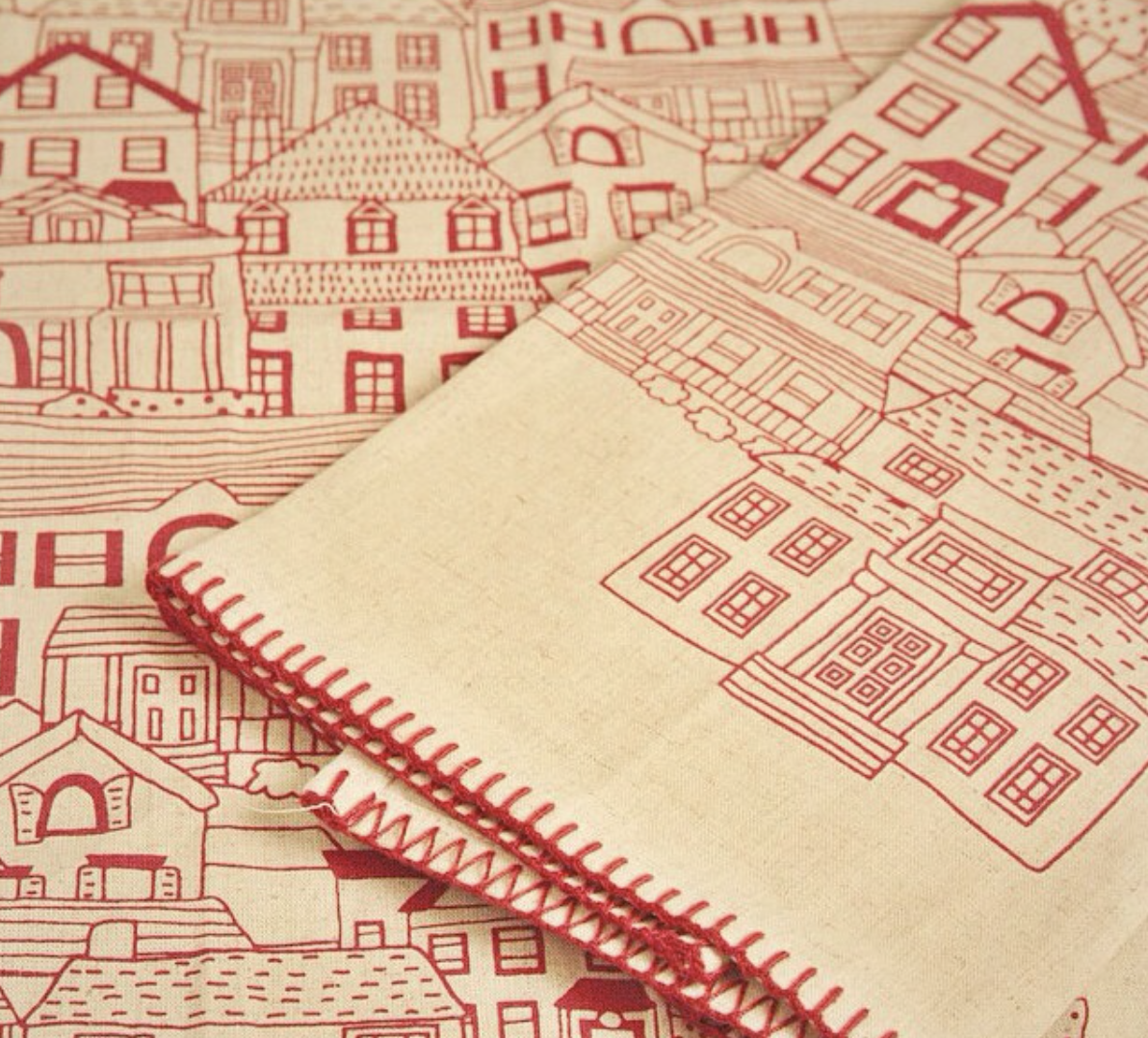 House On The Hill Dish Towel