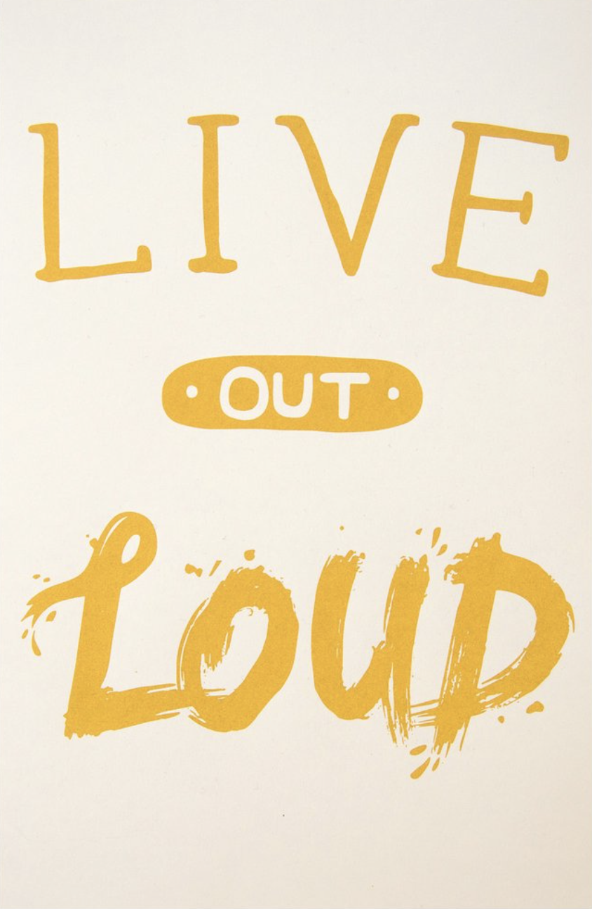 Live Out Loud Poster