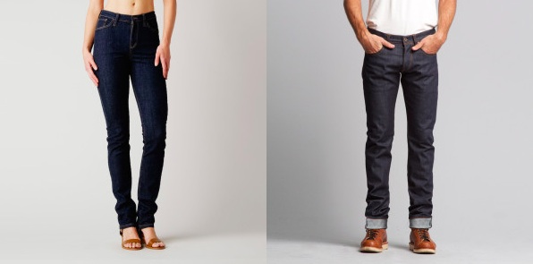 The giveaway! Brooklyn Denim's  women's  High Waisted Skinny or Skinny Raw for  men