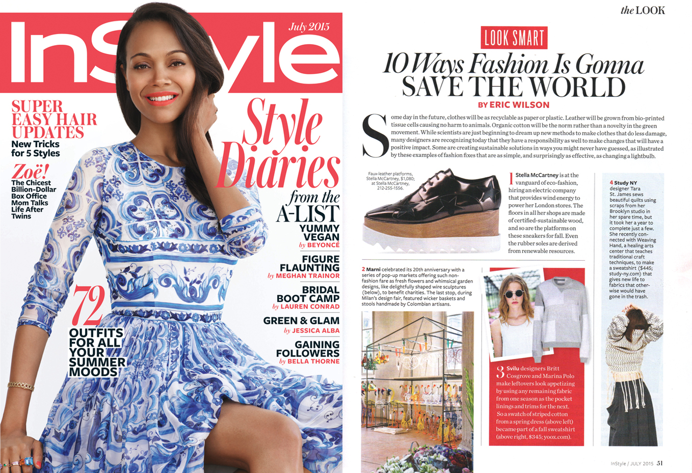 The Weaving Hand Sweatshirt byStudy NY wasfeatured in the July 2015 issue of InStyle