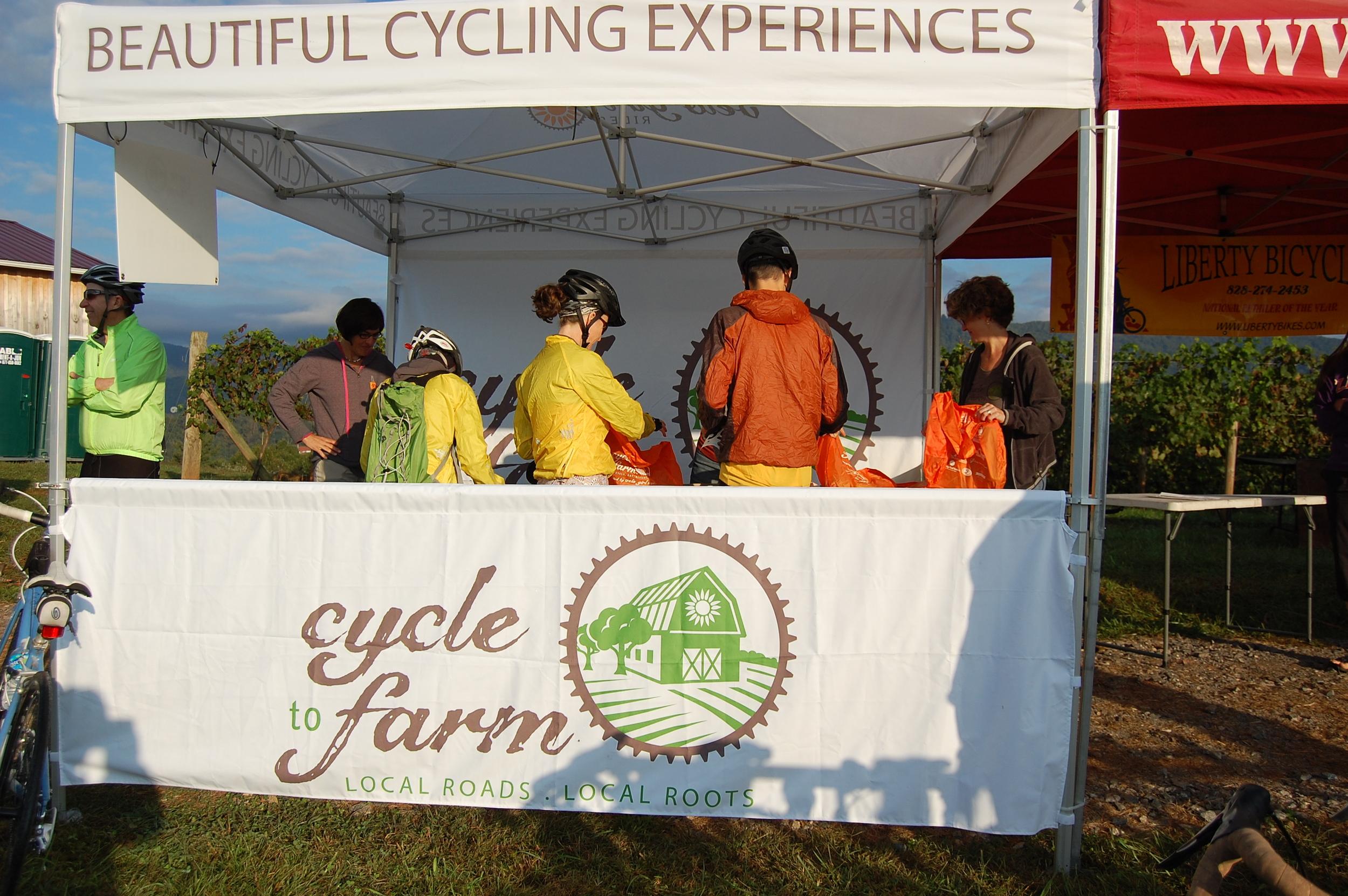 Cycle to Farm Sandy Mush, registration, 28 Sep 2013